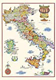 Pozino Metal Sign Vintage Wines of Italy Map Italian Map...