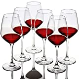FAWLES Crystal Red Wine Glasses Set of 6 - 19 Ounce Clear...