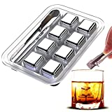 8 Pack Steel Whiskey Stones For Fathers Day Dad Gifts, High...