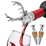 FREEMASTER Wine Pourer With Stoppers Wine Aerators Stainless...