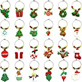 WILLBOND 24 Pieces Christmas Goblet Drink Markers Wine Glass...