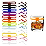 AWF Tomrrom 24Pcs Wine Glass Tag, Cocktail Drink Markers,...