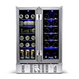 NewAir AWB-360DB Wine and Beverage Cooler, Stainless...