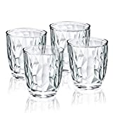 10-ounce Plastic Water Tumblers | Set of 4 Transparent...