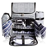 HOMAKER Picnic Backpack for 4 Person Set Pack withLarge...