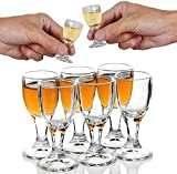 REATR 11ml 0.4oz Unique Mini Wine Shot Glasses Set of 6