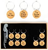 Wine Glass Charms-Wine Charms set of 12-Wine gifts for...