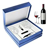 Zalik Wine Glasses Gift Set – Set Of 2 Wine Glasses, Wine...