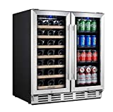 Kalamera Wine and Beverage Refrigerator - 30 inch with Glass...