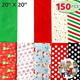 Joiedomi 150 Sheets Christmas Tissue Paper Assorted Design;...