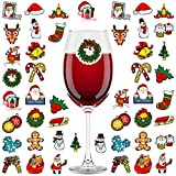 Aneco 48 Pack Christmas Wine Glass Drink Markers Wine Glass...
