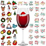Aneco 48 Pieces Christmas Wine Glass Drink Markers Glass...
