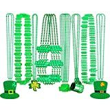 24 Pieces St. Patrick's Day Necklace Shamrock Clover Green...
