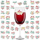Aneco 48 Pieces Christmas Wine Glass Drink Markers Christmas...