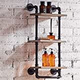 FURVOKIA Industrial Vintage Bathroom Towel Rack,Wall Mount...