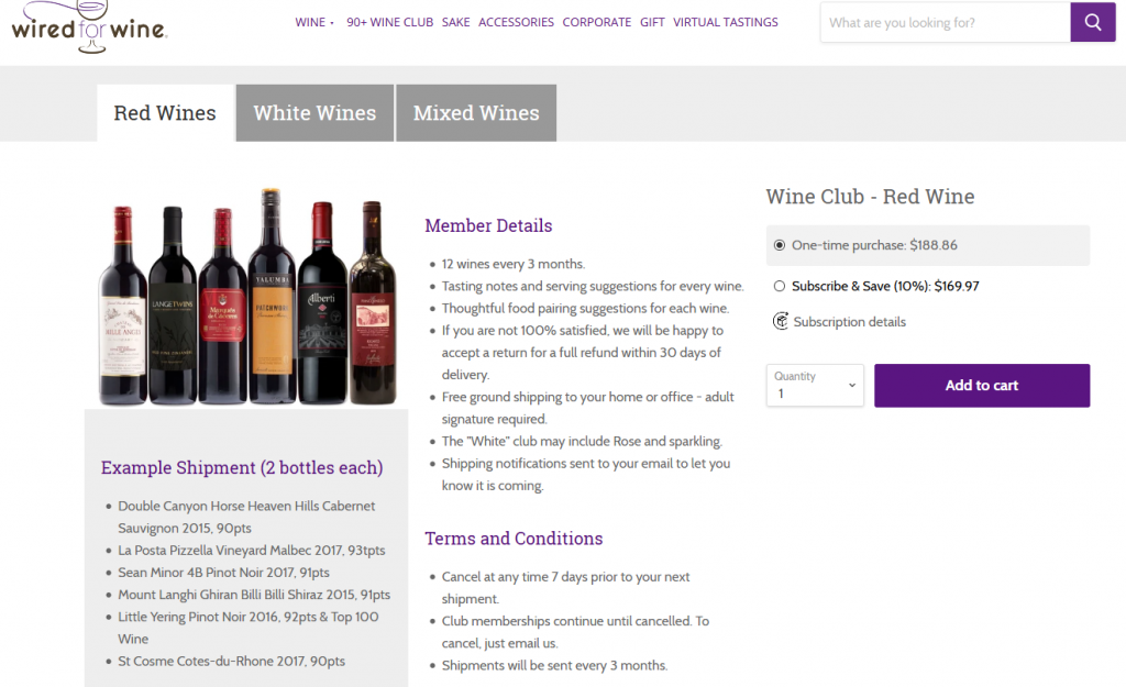 wired for wine 90+ club